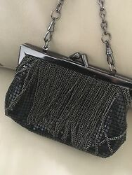 Whiting And Davis Black Evening Bag Clutch $129.99