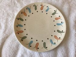 Canonsburg Pottery Tadpole Dinner Plate Sample Excellent Condition