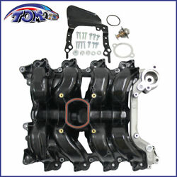 New Intake Manifold W/ Thermostat And Gaskets Kit For Ford Lincoln Mercury 4.6l V8