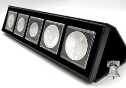 Proof Set Mint Airbox Q5 Display Stand Box 2x2 Storage + 5 Coin Holder Snap Case
