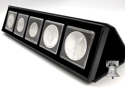 Coin Holder Airbox Q5 Display Setup Box Stand 2x2 Storage + 5 Snap Capsule 41mm