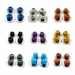 M3 Alloy Wheel Lock Nut With Gasket Hm6047 4pcs For Lc Racing 1/14 Rc Car Hm6047
