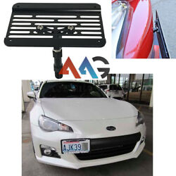 Front Bumper Tow Hook License Plate Relocator Bracket For 2013-2016 Subaru Brz