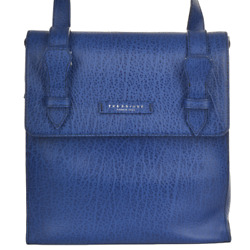 The Bridge Italian Leather Backpack French  blue coach men new