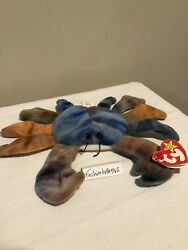 Ty Beanie Baby Claude The Crab 1996 Retired Tag Errors Rare