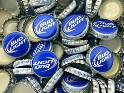 500 Bud Light- Old Style No Dents Beer Bottle Caps Free Shipping