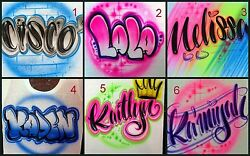 Custom Airbrushed Name Design Personalize a Shirt (Sizes 6 months - Adult 5XL)