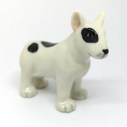 Ceramic Figurine Bull Terrier Dog Miniature Home Decor Collectibles Gift