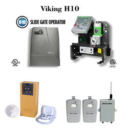 Viking H10 Slide Gate Operator Photocell Multicode Receiver And Remote Control