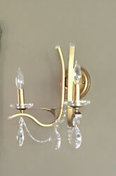 Schonbek Gold And Crystal Wall Sconces X 2