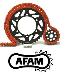 Afam Upgrade Orange Chain And Sprocket Kit Yamaha Dt200 Wr 91-97