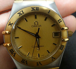 9.5 33 Mm Stainless Steel Omega Constellation Two Tone Watch