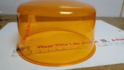Amber Beacon Dome Vintage Police And Fire For Large Revolving Light Stratolite 80