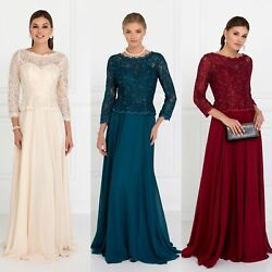 3/4 Sleeves Lace And Chiffon Camilla Mother Of The Bride Groom Dress In 3 Colors