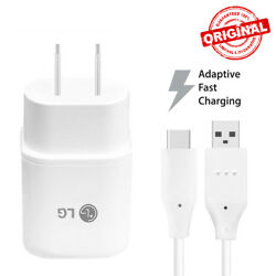 Original Fast Adaptive Charger & USB Type C Data Cable Cord For LG G5 V20 G6