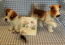 Vintage Wire Fox Terrier Lot of 3 -  Figurines + Tally