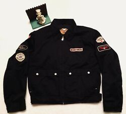 Harley Davidson Jacket Large. Patches M1456 Black Polyester.. Very Nice Low Wear