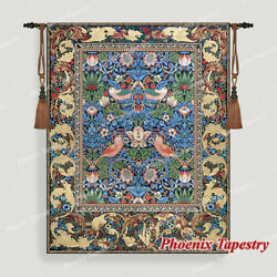 William Morris Strawberry Thief Fine Art Wall Tapestries Cotton 100% 55quot;x43quot; US