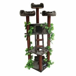 Kitty Mansions Redwood 75 in. Cat Tree 75