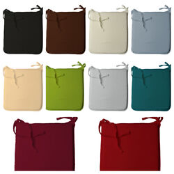 2-4-6 Pcs Thick Removable Chair Pads Seat Cushions Dining Garden Kitchen Zip Tie