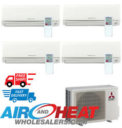 Mitsubishi 36000 BTU 19.20 SEER Non Ducted Multi Zone System 9+9+9+9