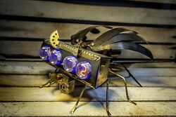 In-4 Nixie Clock Military Drone 2    As Z568m In-18    Handmade And Unique