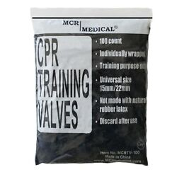 100 Pack Cpr Training Valves - For Pocket Rescue Mask Training With Cpr Manikins