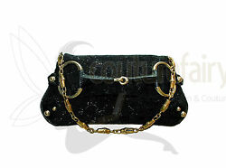 COLLECTOR'S GUCCI TOM FORD GG MONOGRAM BEADED CRYSTAL LIZARD SKIN CLUTCH BAG