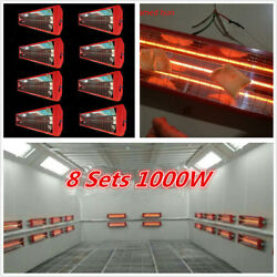 8 Sets 1KW Auto Car Paint Curing Lamp Infrared SprayBaking Booth Heating Heater