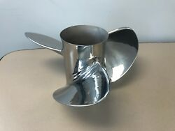 Ss280 Omc Reconditioned 390822 14.25x21plus Lh Stainless Steel 3 Blade Prop