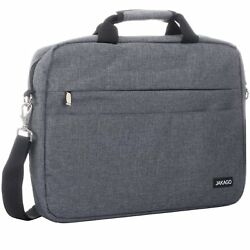 Men Waterproof Messenger Shoulder Bag 15.6 inch Laptop Travel Briefcase Grey