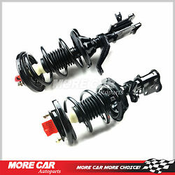 Pair 2 Front Complete Strut Spring Coil Shock Assembly Fit 01-05 Honda Civic