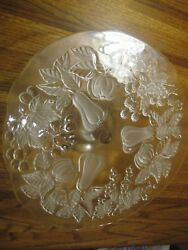 German Walther Crystal Mikasa Pedestal Cake Plate And Matching Serving Bowl