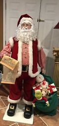 Animated Santa Claus With List Andtoys Over 5ft Tall Very Rare- Unique ❤️❤️🎅🏼
