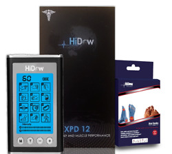 Hidow Acuxpd Micro Physical Therapy Tens Unit Bundled With Hi-dow Acu Socks