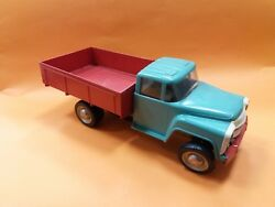 Vintage Very Rare 60's Russian Ussr Tin/plastic Wind-up Toy Dump Truck Zil