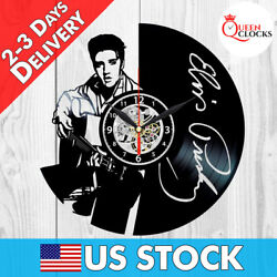 Rare Elvis Presley Vinyl Record Wall Clock Great Perfect Vintage Gift Home Decor