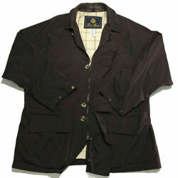 Loro Piana Horsey 1992 Olympics Button Zip Jacket L Leather Brown Plaid Mens