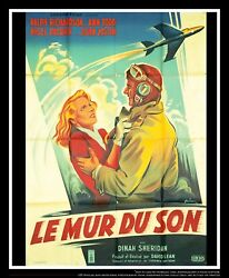 THE SOUND BARRIER On Linen 4x6 ft French Grande Movie Poster Original 1952