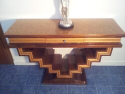 Art Deco Bauhaus French Step Table 47 X 32in