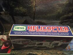 2001 Hess Truck Helicopter M Cycle Cruiser Vintagecollectible New In Box