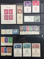 Israel Stamps 1949 Full Complet Year With Full Tabs M.n.h.