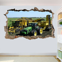 Potato Harvester Tractor Wall Stickers 3d Art Mural Room Office Poster Decor Ub5