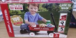 Radio Flyer Little Red Toy Wagon For Stuffed Animal Toy Gift Basket Kid Toddler