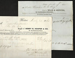 Boston And Providence Railroad Two Documents 1845 And 1860 Tools Saws Metal Copper