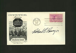 Richard E. Beringer Envelope Signed By Artist And Architect Fdc Aia Autograph
