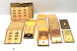 28 Heavy Duty Antique Smooth Copper Metal Plate Switch Phone Blank Light Covers