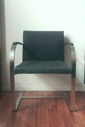Authentic Knoll Brno Chair With Stailess Steel Bar From 1940and039s