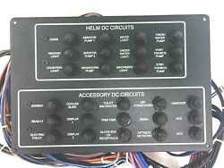 Sea Fox Helm And Accessory Dc Circuit Switch Panel 9 15/16 X 6 3/4 Boat Marine