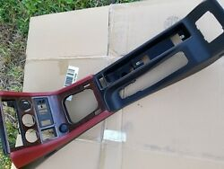BMW E36 Z3 SHIFTER E BRAKE CENTER CONSOLE RED LEATHER BLACK OEM WOOD GRAIN ROADR